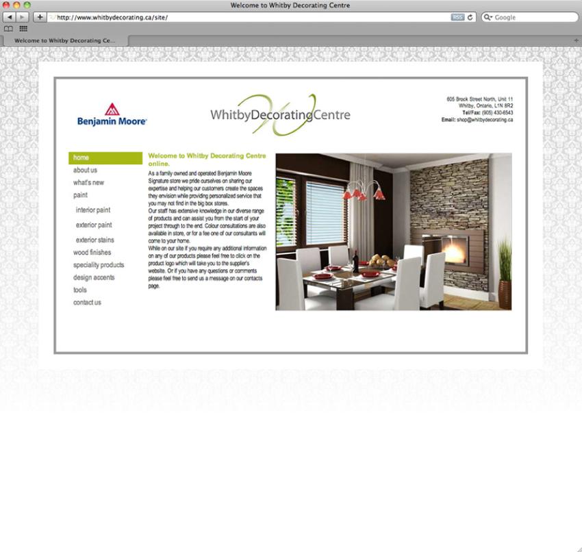 Portfolio image for Whitby Decorating Centre