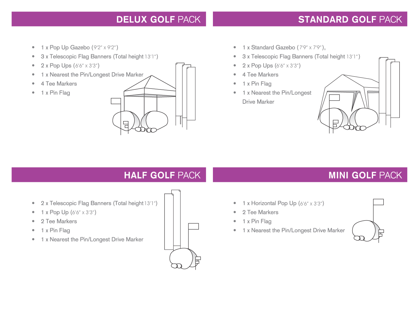 Portfolio image for BFBD Banners - Golf Packs