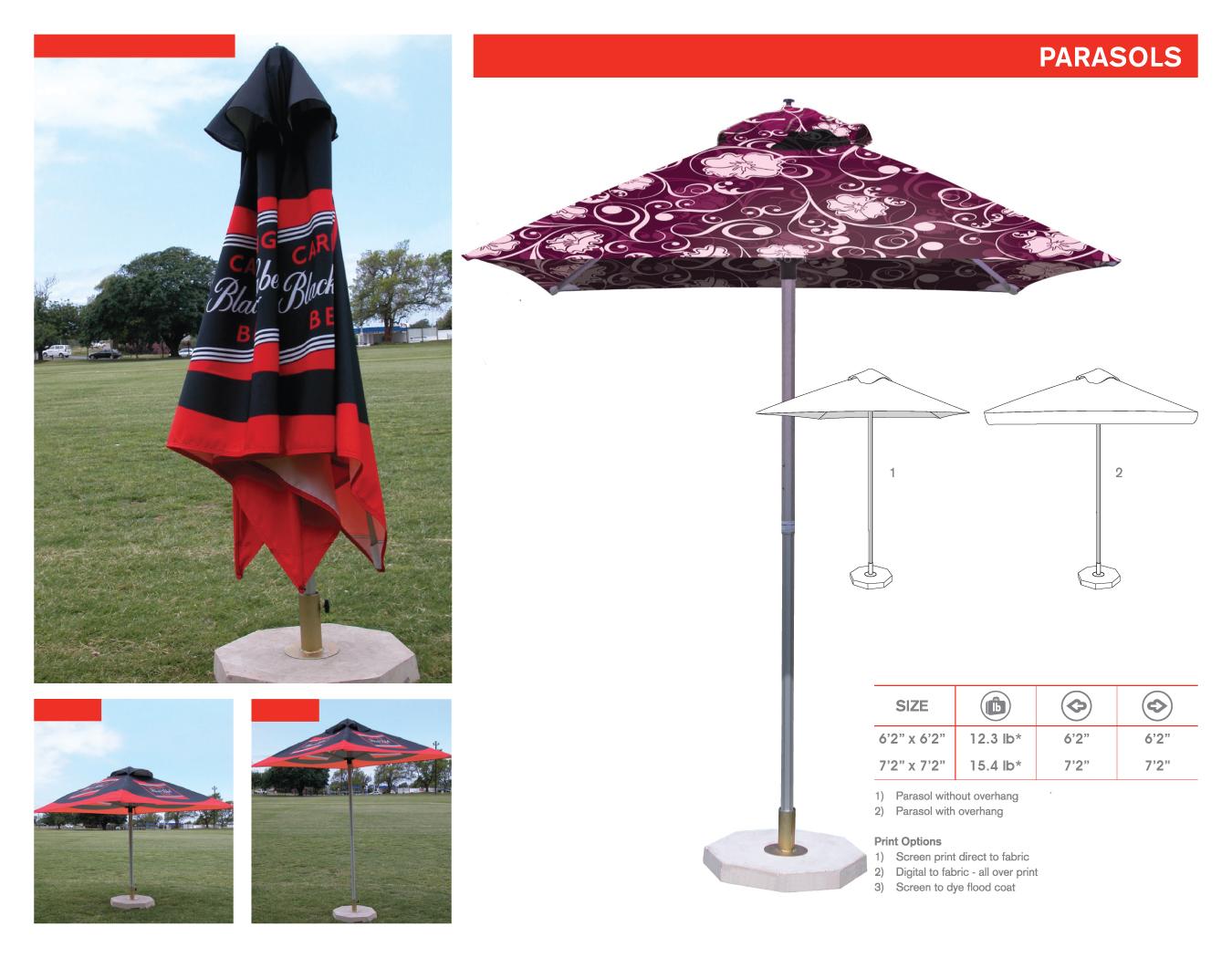 Portfolio image for BFBD Banners - Parasols