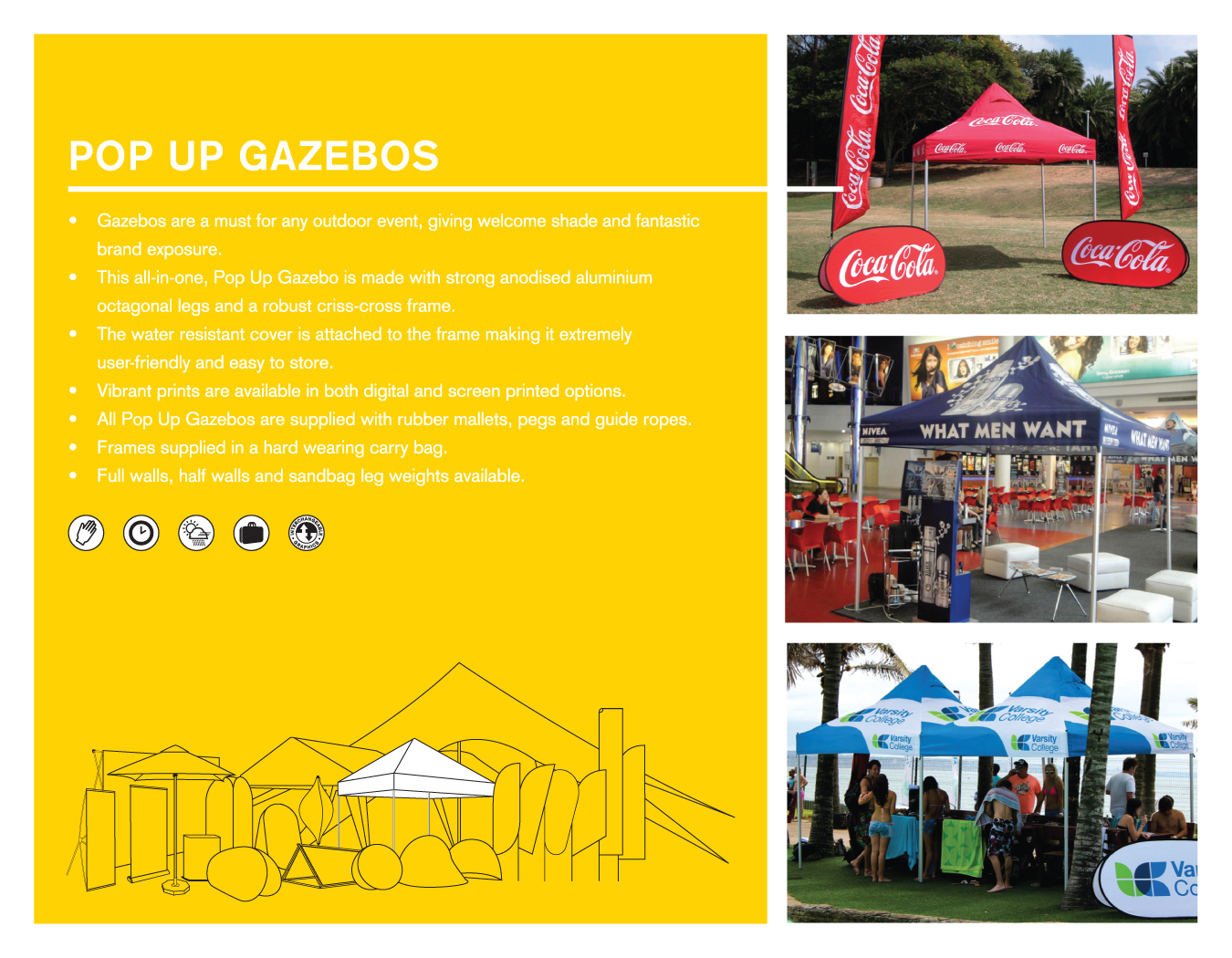 Portfolio image for BFBD Banners - Pop Up Gazebos