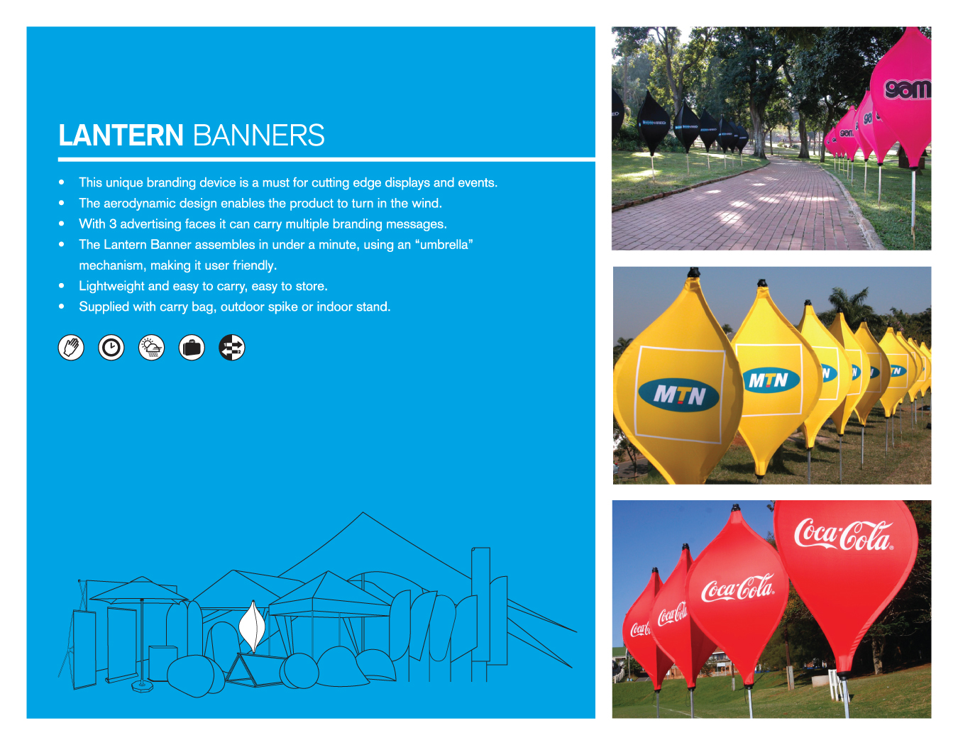 Portfolio image for BFBD Banners - Lantern banners